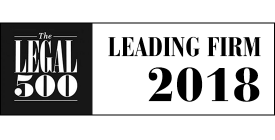 Legal 500 Leading Firm 2018