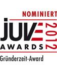 Nominiert: Juve Awards 2012 Gründerzeit Award