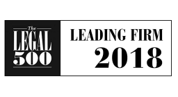 The Legal 500 Leading Firm 2018