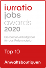 Jurration Jobs Award 2020